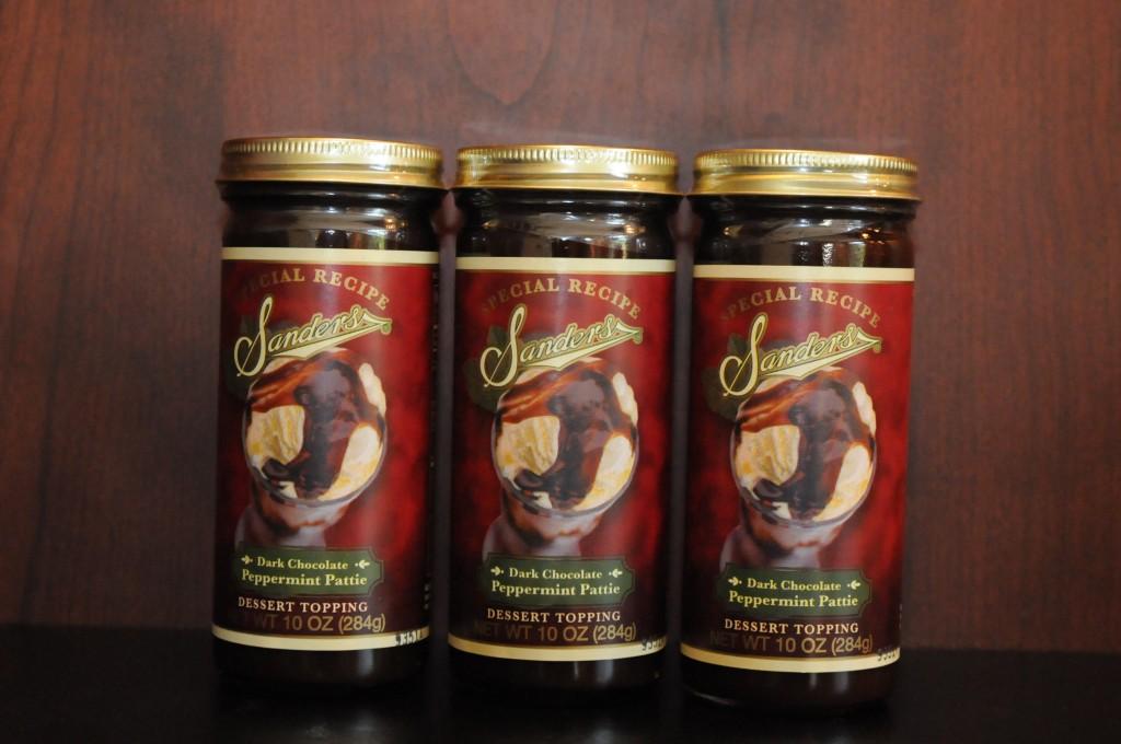 dark chocolate peppermint pattie dessert topping 2 Sanders | Michigan Chocolate