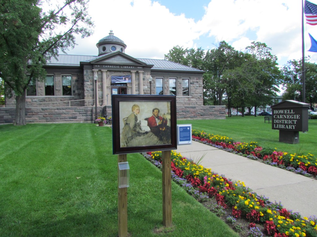 Degas painting on library lawn in Howell. Day 71: Inside Out Project
