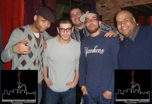 Owner Emad Shatar with his house poets courtesy of Hookah Lounge Day 78: Eastown Hookah Lounge