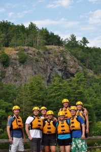 Piers Gorge Rafting Group Photo 1 Whitewater Rafting through Piers Gorge in Michigan's Upper Peninsula