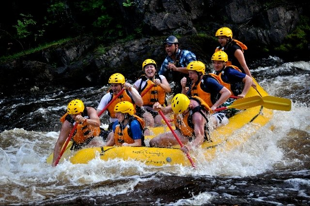 Piers Gorge Whitewater Rafting 2 Whitewater Rafting through Piers Gorge in Michigan's Upper Peninsula
