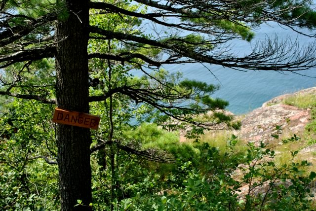 Bare Bluff Danger Sign Everything You Need to Know to Hike Bare Bluff in the Keweenaw Peninsula