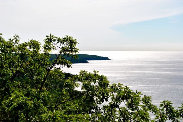 Bare Bluff Trail overlooking Great Lake