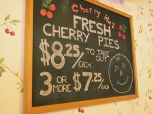 CherryHut chalkboard Day 104: Cherry Hut