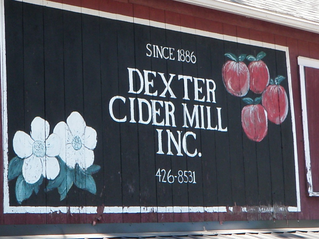 The Awesome Mitten - Dexter Cider Mill Sign