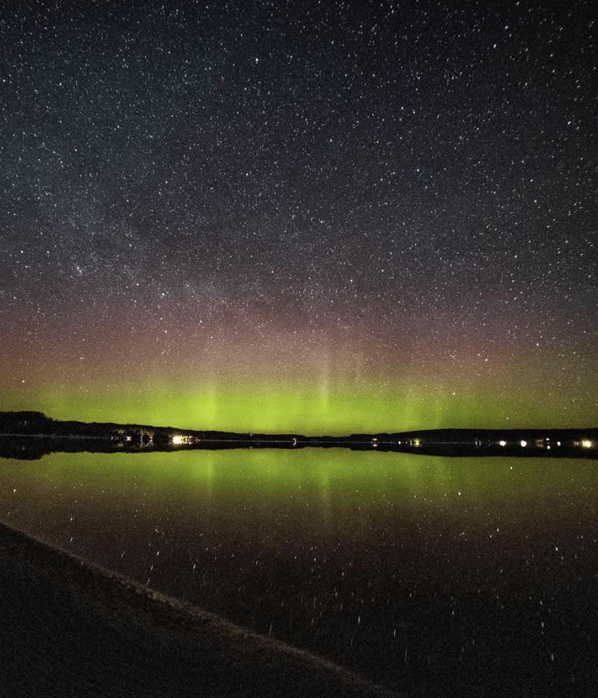 Northern Lights in Michigan: Crystal Lake