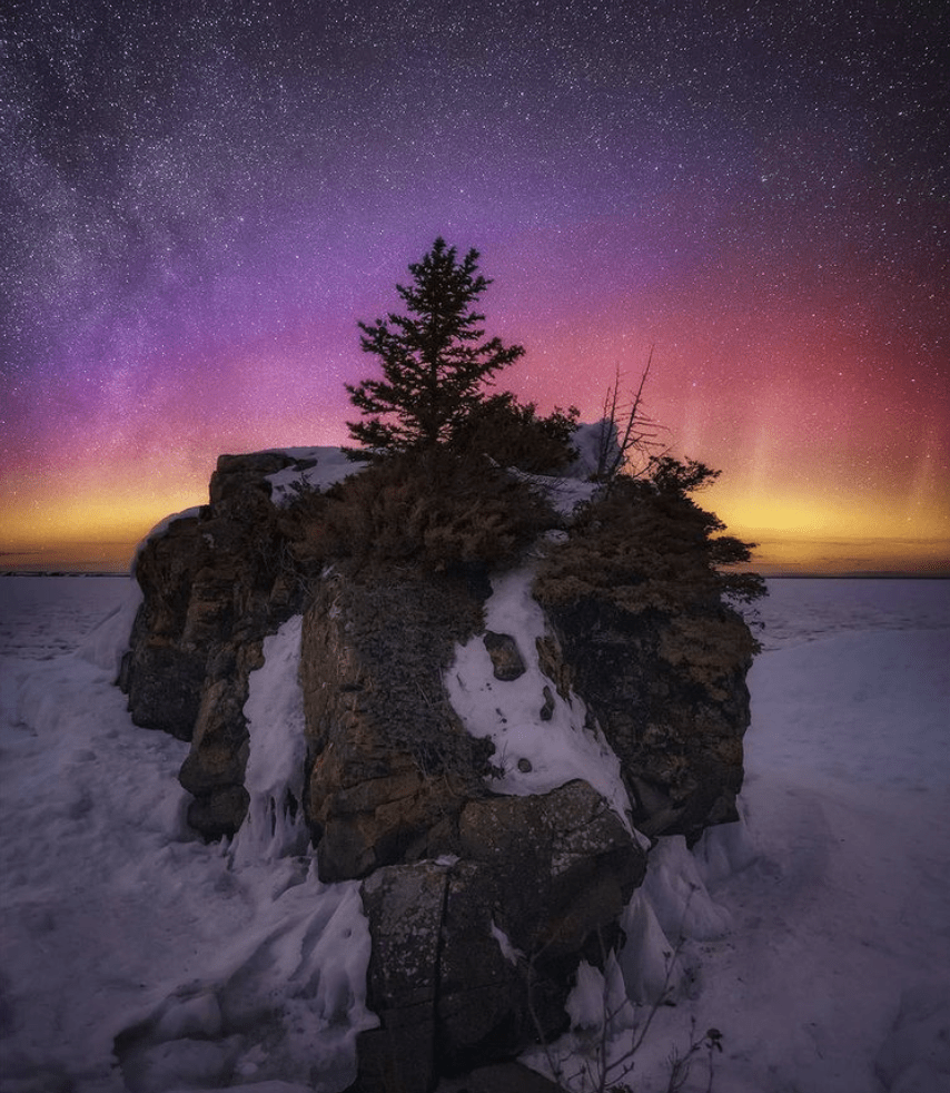 Northern Lights in Michigan: Copper Harbor