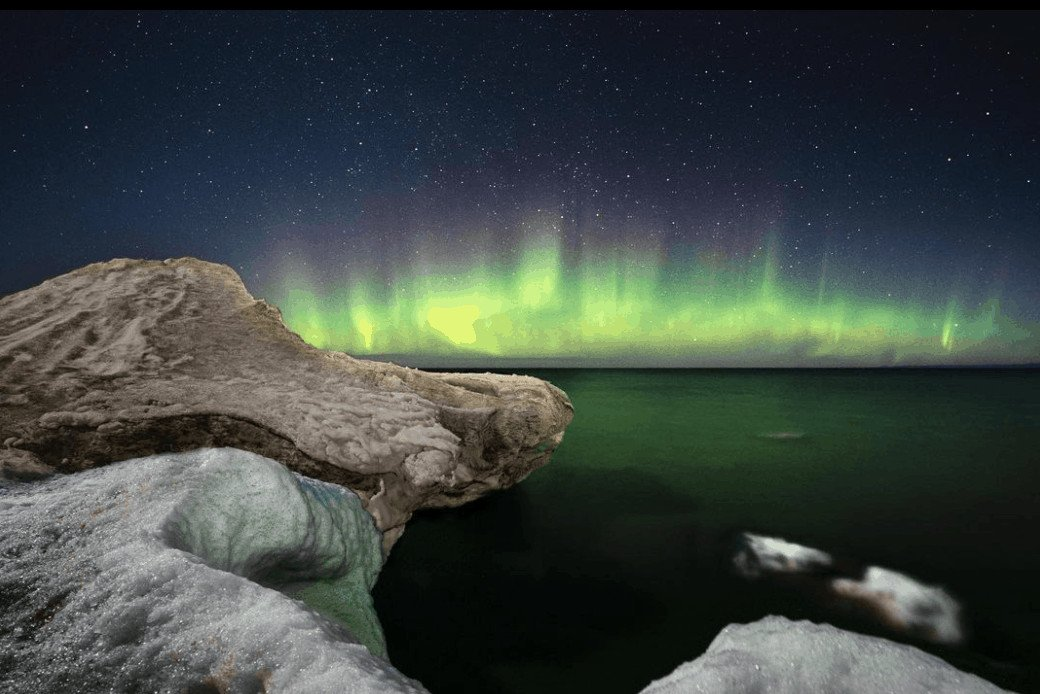 Northern Lights in Michigan: Whitefish Point Lighthouses