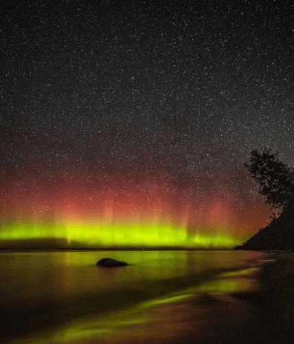 Northern Lights in Michigan: Sleeping Bear Dunes National Park