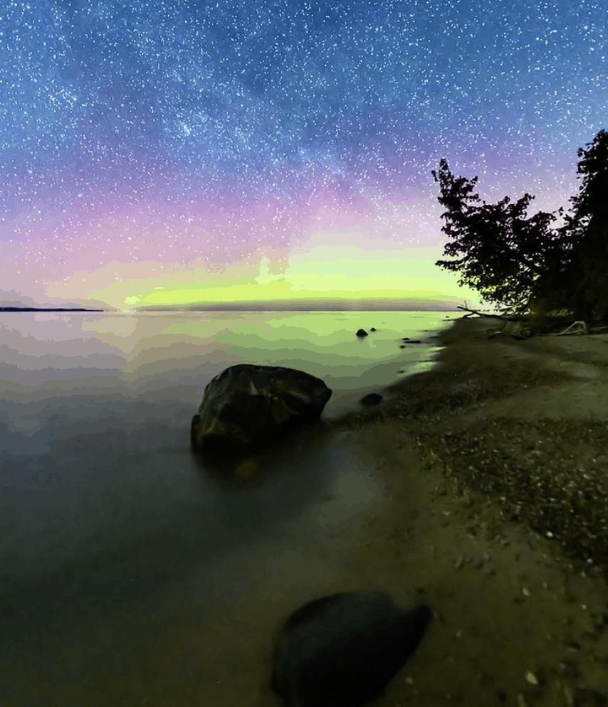 Northern Lights in Michigan: Elk Rapids