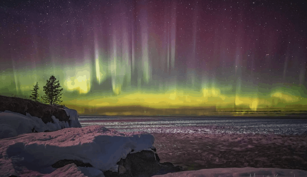 Northern Lights in Michigan: Eagle Harbor