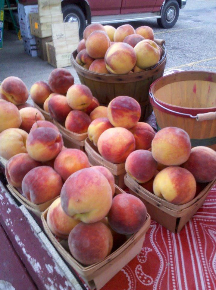 Fresh Peaches Fulton Street Farmers Market Facebook Day 144: Fulton Street Farmer's Market