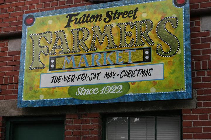 Fulton Street Farmers Market main signage Facebook Day 144: Fulton Street Farmer's Market