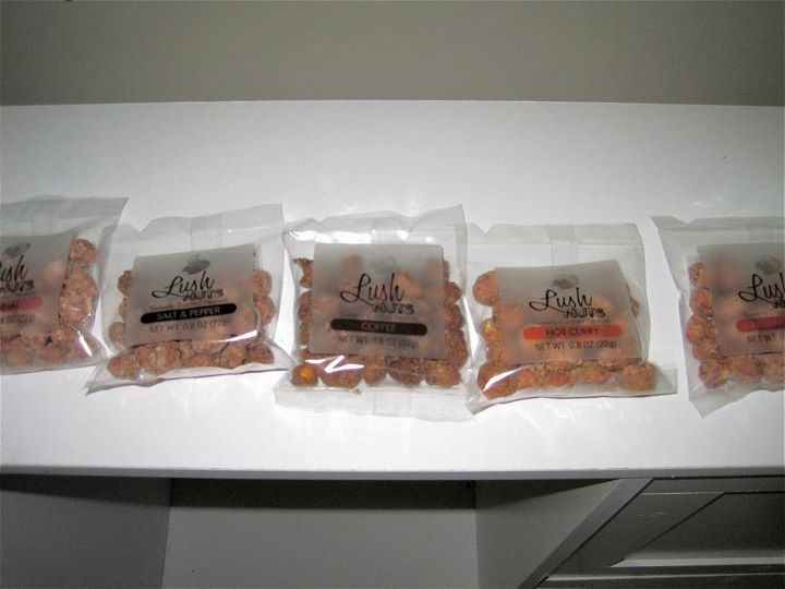 Individual packages of each delicious flavor Day 121: Lush Nuts