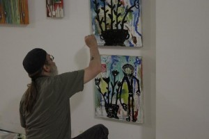 Local artist putting finishing touches on an art piece courtesy of Josh Beebe Day 175: SPACE