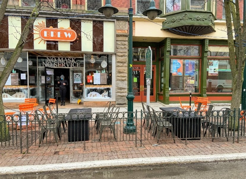 brew TC outdoor winter seating