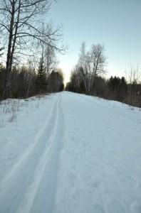 DSC 5739 Day 273: Ski (or snowshoe) at Fumee Lake