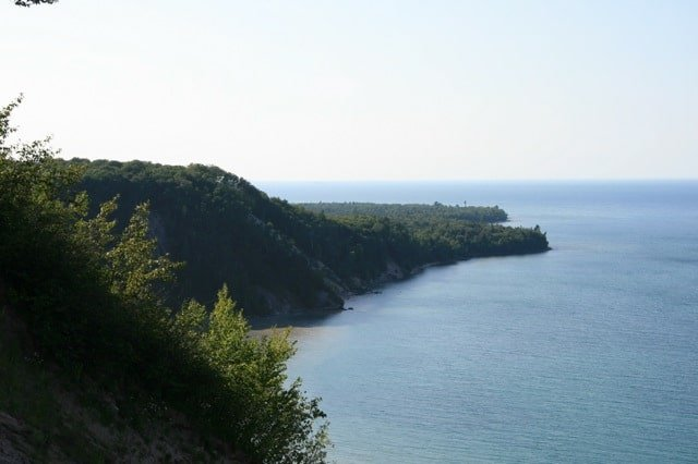 au sable point from log slide Exploring the Log Slide Scenic Overlook | Pictured Rocks National Lakeshore