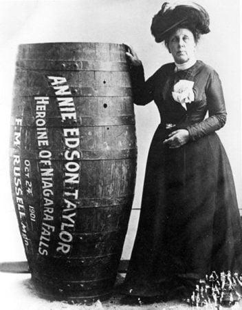 The First Niagara Falls Barrel Ride