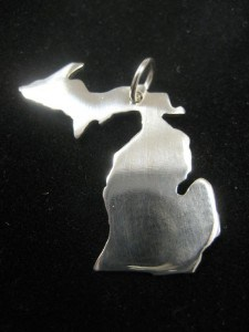 Michigan Necklace KTG Designs - The Awesome Mitten