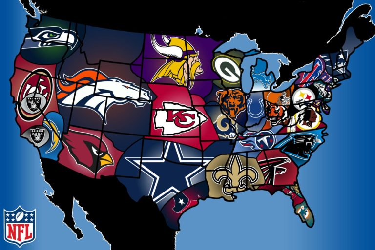 Awesome-Mitten-NFL-map
