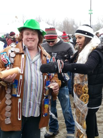 If You're Going to Winter Beer Fest, Wear Your Food Around Your Neck