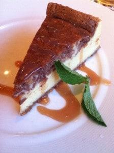 Nutella Espresso Cheesecake: served with salted caramel glaze for Detroit Restaurant Week. Photo courtesy Joanna Dueweke.
