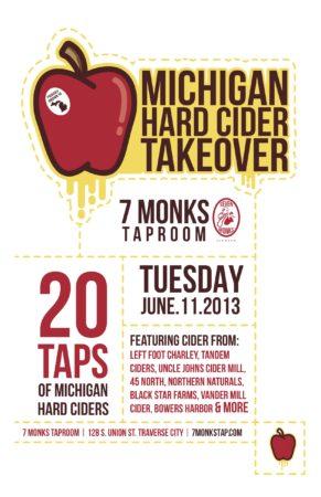Michigan Hard Cider Takeover at 7 Monks Taproom