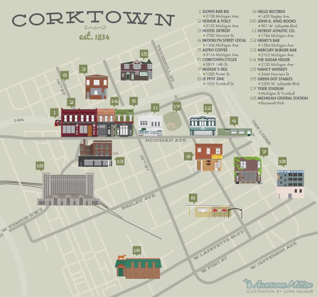 Corktown Guide - The Awesome Mitten