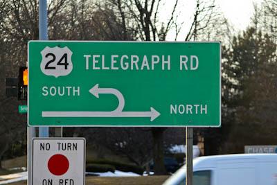 telegraph street sign Michigan Talk