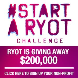 Photo Courtesy #STARTARYOT Challenge with RYOT News + CrowdRise