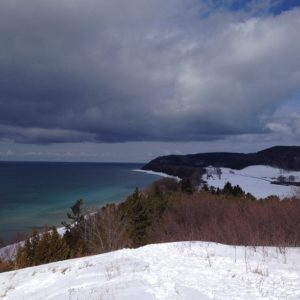 Port Oneida by snowshoe.