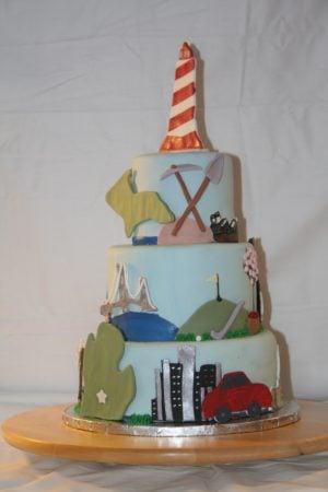 Michigan's Birthday Bake Off Professional Entries 2014