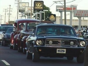 Revving Engines at the 28th Street Metro Cruise - Awesome Mitten