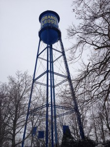 Grand Ledge Water Tower; Photograph Courtesy of Ariel Rogers