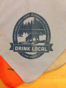 """The """"Drink Local"""" bandanna, just one of many designs available. Photo Courtesy of Jennifer Hamilton"""