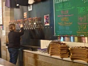 The Taps are always eager to flow at Right Brain Brewery. Photo Courtesy of Jennifer Hamilton