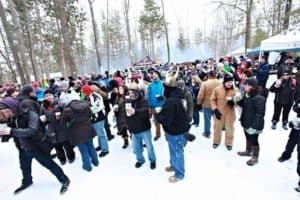 Suds and Snow draws a great crowd. Photo Courtesy of Bad Teacher Brewing Supply