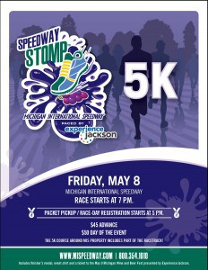 Speedway Stomp 5k paced by Experience Jackson