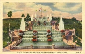 The Cascades Historic Postcard Jackson Michigan