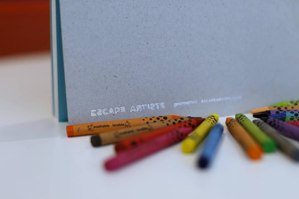 ESCAPE ARTIST LOGO CRAYONS Enjoying Coloring Books as a Grown-Up
