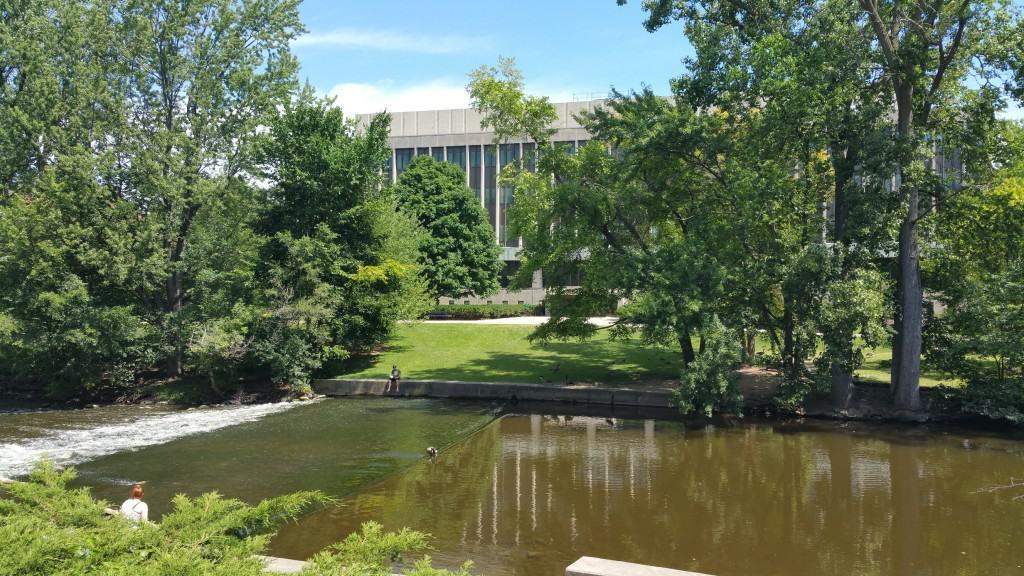 The Red Cedar River runs through the north half of MSU's main campus. Photo by Joel Heckaman - Awesome Mitten