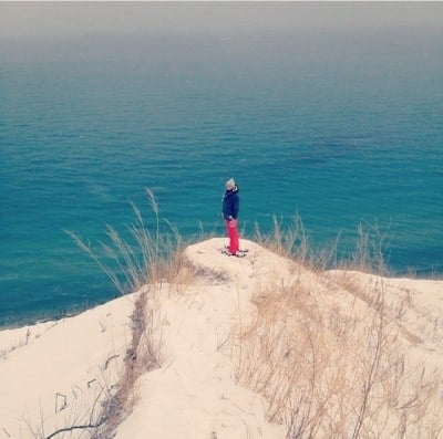 Pyramid Point is one of the best places to snowshoe in Michigan. Photo Courtesy of Joseph Symons