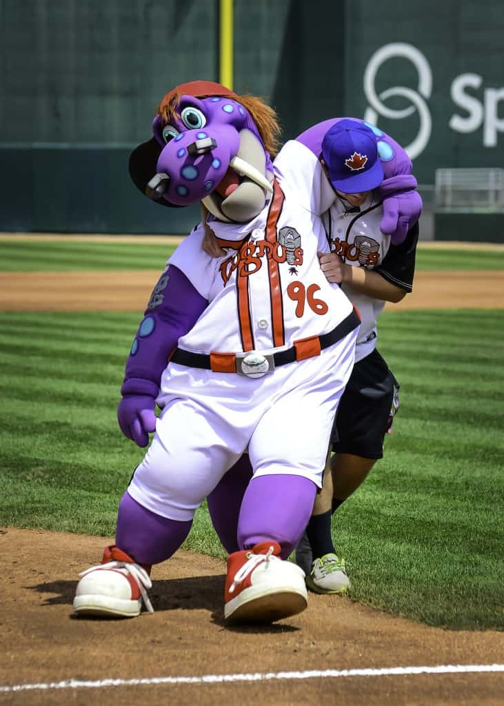 Big Lug has been the face of the Lugnuts since 1996. Photo by Kyle Castle courtesy of Lansing Lugnuts