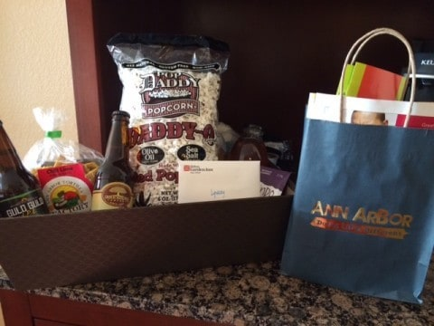 Gift Basket from Visit Ann Arbor at the Hilton Garden Inn - #MittenTrip - Ann Arbor - Ann Arbor