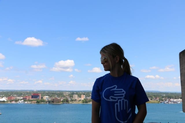 Shalee at the top of Tower of History - #MittenTrip - Sault Ste Marie - The Awesome Mitten