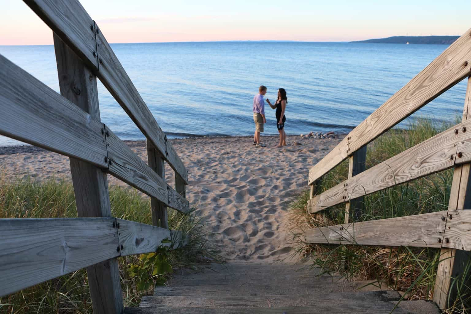 Beach by Point Iroquois Lighthouse - #MittenTrip - Sault Ste Marie - The Awesome Mitten