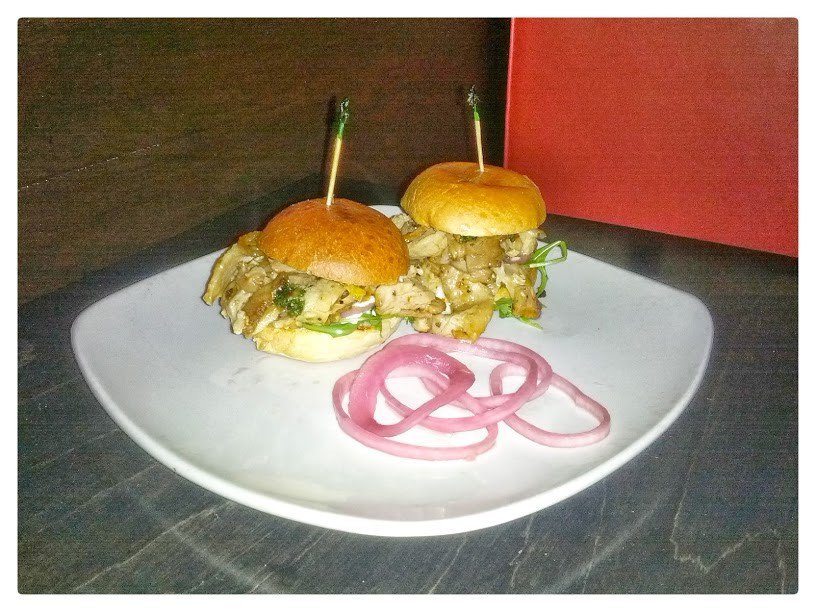 Porchetta sliders at the Sardine Room in Plymouth. Photo by Tim Chilcote - Awesome Mitten