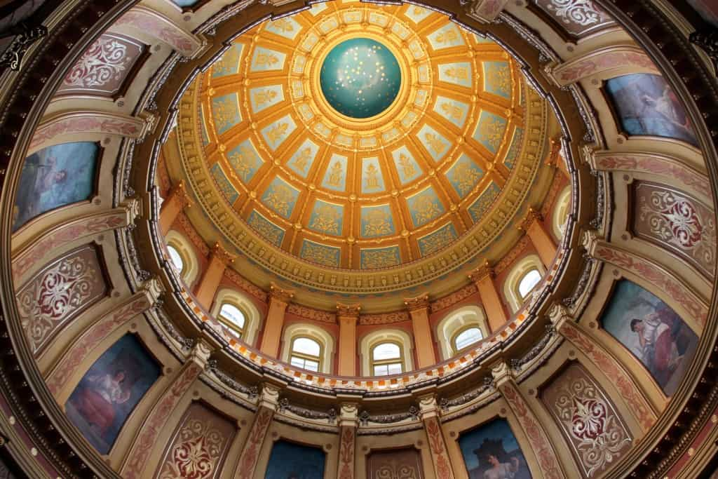 The Capitol Dome - Lansing, michigan - The Awesome Mitten