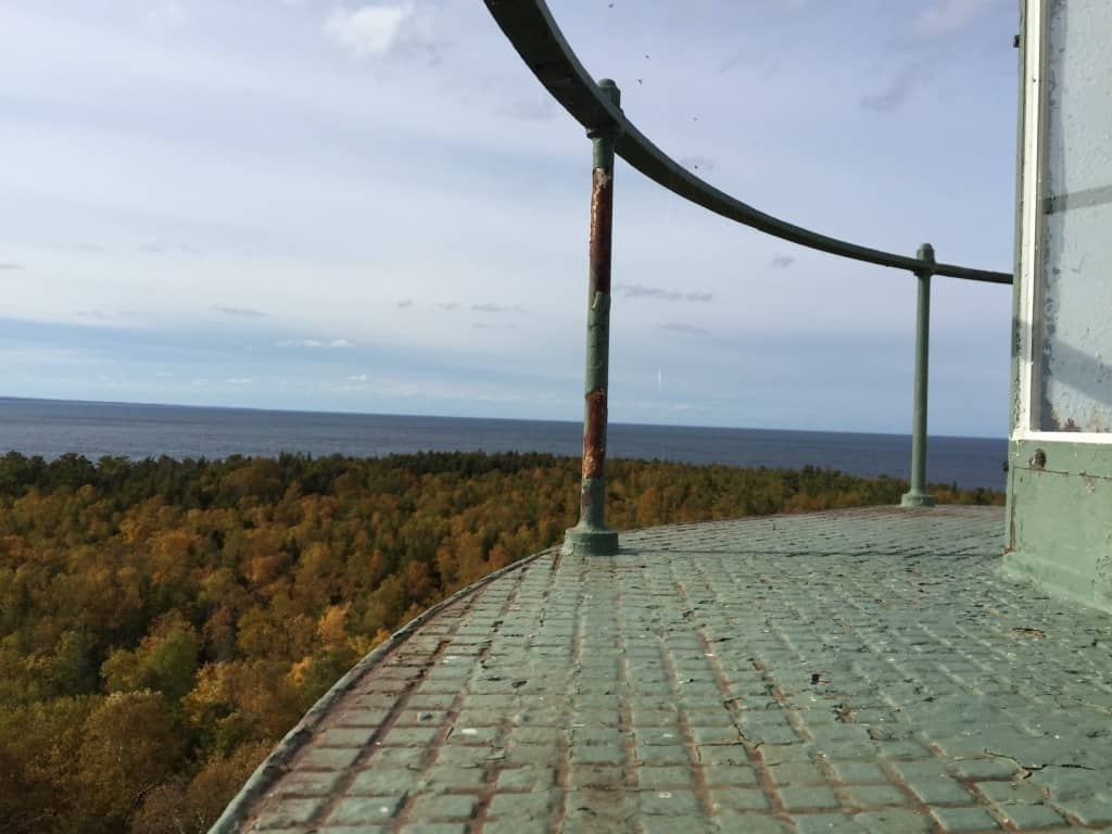 View from New Presque Isle Lighthouse. Photo by Joel Heckaman - Awesome Mitten #MittenTrip